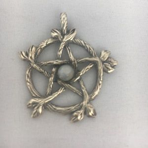 Jewelry - Silver Pentagram pendant with Moonstone